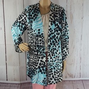 Chicos Textured Leopard Cardigan